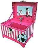 Just Like Me Soccer Player Musical Jewelry Box (Black Hair Figurine)