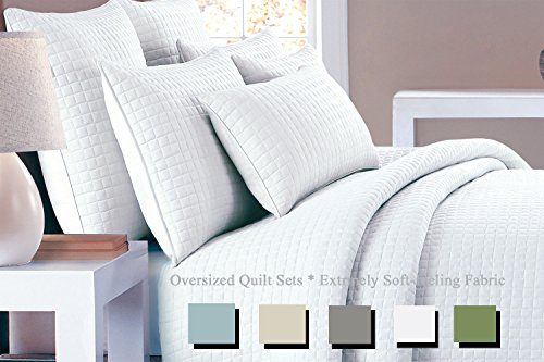Lilly & Skye Metropolitan quilt set, Full/Queen, Bright White