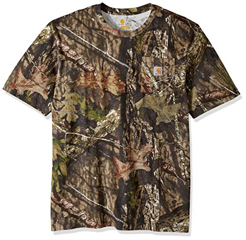 Carhartt Men's Big and Tall Big & Tall Camo Short Sleeve T Shirt, 340-Mossy Oak Breakup Country, - Cloth Realtree Camo