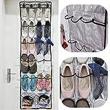 22 Pockets Clear Over Door Hanging Storage Bag Rack Hanger Helper
