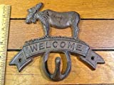 MOOSE WELCOME HOOK 5-1/2x6 rustic Wall hanger cast - Best Reviews Guide