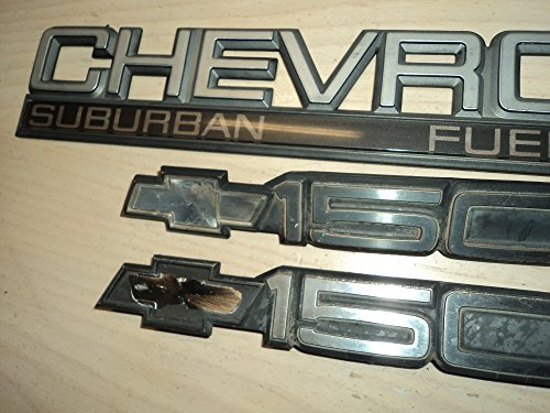 Fuel Injection Emblems - Chevrolet SUBURBAN FUEL INJECTION 1500 USED Emblem Badge Rear Trunk Blazer Suburban SET of 3