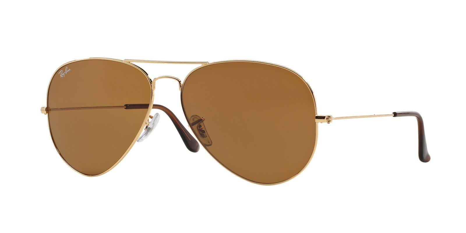 Ray Ban Women's RB 3025 001/33 B-15 lens Aviator Sunglasses 58mm, Gold