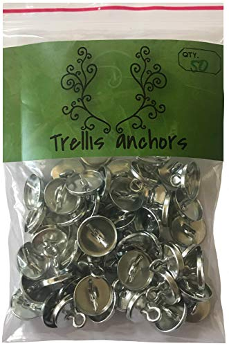 Plant Anchors - 50-Piece Anchors for Trellis, Vine, Wall Climbing Plants, Lighting Strip (50)