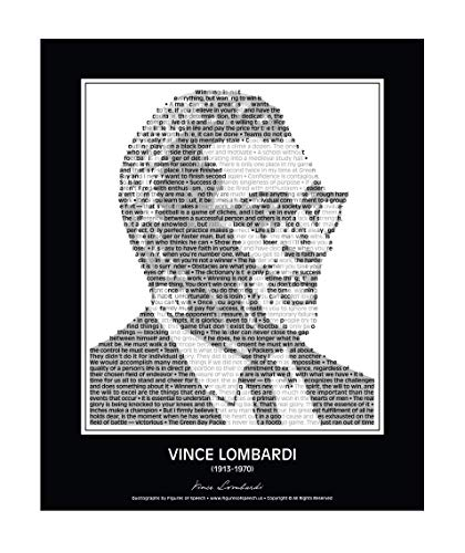 Motivational Vince Lombardi Quotes Wall Decor - in his own words. Vince Lombardi Poster made of Vince Lombardi Quotes! Wall Art. Home Decor. Print. Portrait. 24