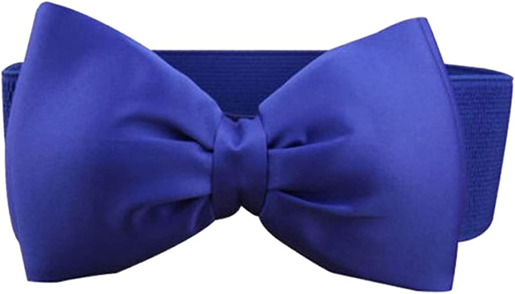 Women Fashion Sweet nœud élastique nœud large extensible Boucle ceinture Ceinture