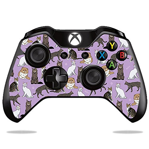 MightySkins Skin Compatible with Microsoft Xbox One or One S Controller - Cat Chaos | Protective, Durable, and Unique Vinyl wrap Cover | Easy to Apply, Remove, and Change Styles | Made in The USA