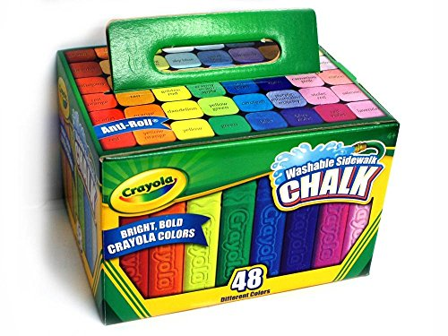🥇 Crayola 512048 Washable Sidewalk Chalk