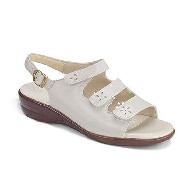 Sas Womens Quatro Comfort Leather Sandal (9 N, BONE)