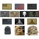 Bundle 10 Pieces US Flag Velcro Patch American...