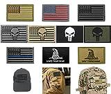 Bundle 10 Pieces US Flag Velcro Patch American Flag