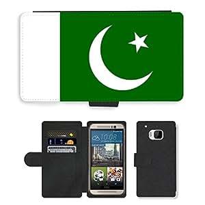 GoGoMobile PU LEATHER case coque housse smartphone Flip bag Cover protection // V00001142 pakistan Bandera Nacional País // HTC One M9