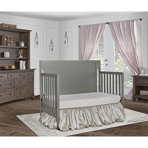Dream On Me Cape Cod 5-in-1 Convertible Crib, Storm Grey