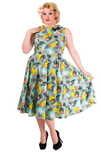Vintage Banned Size Dress Pin Flamingo Wonderlust Up Sleeveless Flamingo 1950s Plus wqHqIxRr