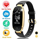 Xenzy Fitness Tracker HR for Men Women Kids – Smart Watch with Heart Rate Blood Pressure Blood Oxygen Monitor Pedometer Sleep Monitor Calorie GPS Tracker Sport Outdoor Wristband