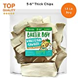 Baxter Boy Premium Rawhide Chips for Dogs Extra Thick Cut Natural Long Lasting Chews Treat – (1.5 Pound Bag)