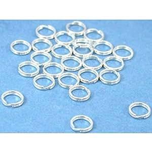 Amazon.com: 25 Sterling Silver Split Rings Charm Bead