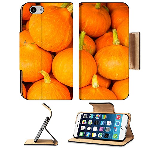 MSD Premium Apple iPhone 6 iPhone 6S Flip Pu Leather Wallet Case Fresh pumpkins on sale stand Thailand iPhone6 IMAGE