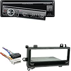 Power Acoustik In-Dash DVD AM/FM Receiver 7-Inch Flip-Out Touchscreen Monitor and USB/SD Input W/ Radio Wiring Harness For Chrysler/Jeep 1984-06 and Metra 99-6000 Single DIN Installation Kit
