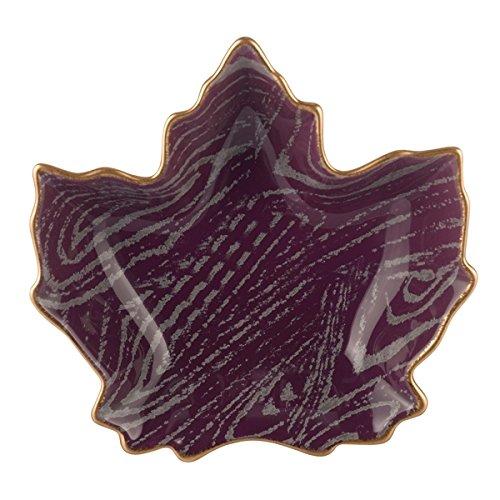 Grasslands Road Soirée Autumn Leaf Bowl, Purple Maple Leaf 464846