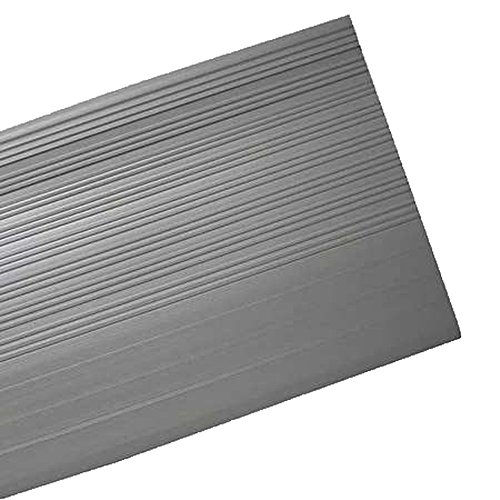 Master Stop 5136003 Stair Tread Sq Nose 42 In Gray General Molded Vinyl Ribbed Design Stair Tread Industrial Scientific