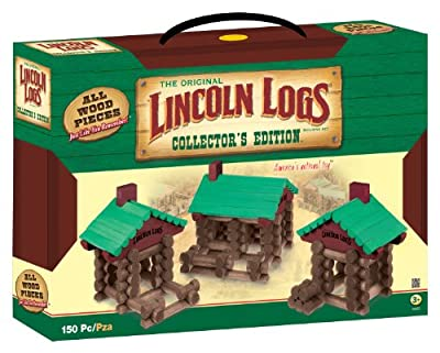 Lincoln Logs Collectors Edition Wooden Case from Lincoln Logs