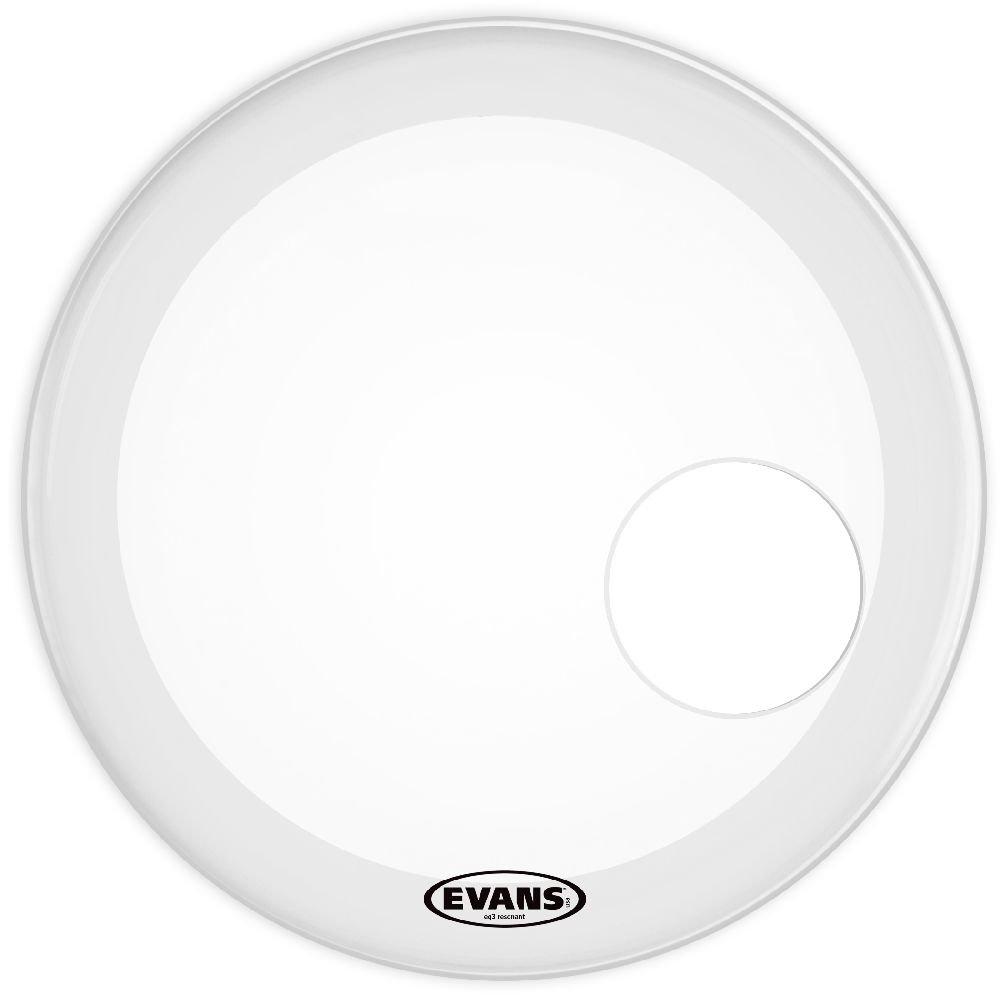 22 pouces Evans Peau de r/ésonance de grosse caisse lisse blanche Evans EQ3 sabl/ée