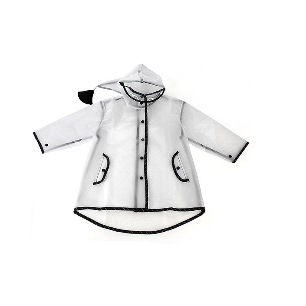 X-grand Maybesky Veste de Pluie pour Enfants Mignon encapuchonné Gland Imperméable Enfants Bébé Imperméable Transparent Durable Durable Imperméable pour Les Filles garçons (Taille   S)