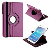 "Gizmo Dorks 360 Rotating Case Stand Cover for Samsung Galaxy Tab 3 P8200 8"" (Purple)"
