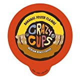 Crazy Cups Single Serve Coffee Cups for the K Cup Keurig, Bananas Foster Flambe, 22 Count