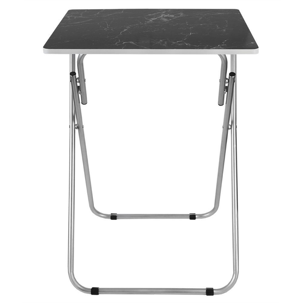 Home Basics Multi-Purpose Sturdy and Durable Decorative Bedside Laptop Snack Cocktails TV Folding Table Tray Desk Bedside Laptop Snacks Black Marble by Home Basics (Image #4)