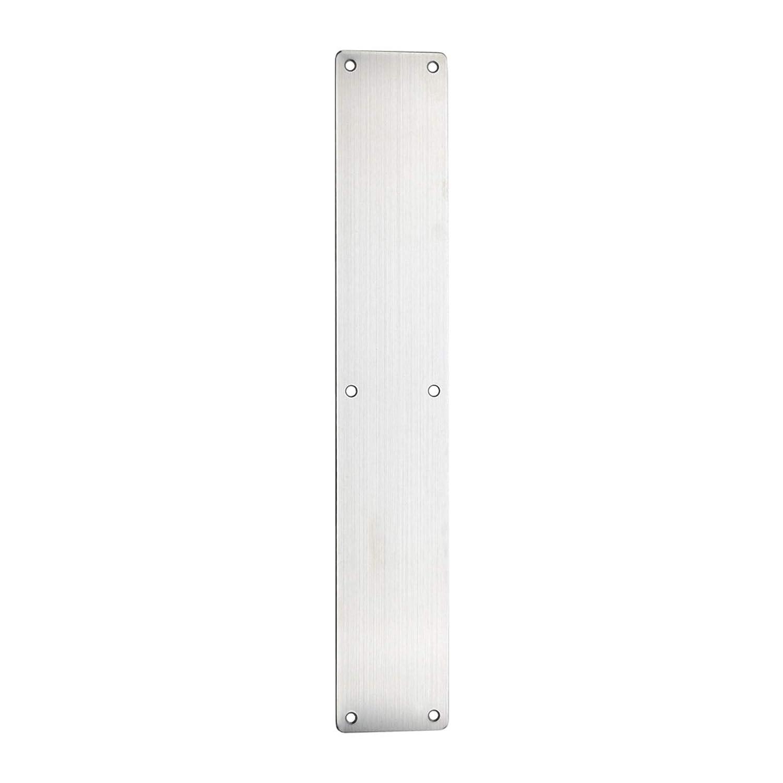 Satin Stainless Steel Door Finger Plate 450x75mm