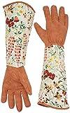 Leather Rose Pruning Gardening Gloves Thorn Proof Puncture Resistant Garden Work Gloves for Cacti Plants Roses Bush Best Tool for Farmer Gardener CYST04