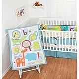 Baby Crib Bedding Set 4 Piece ABC Animals By Sumersault