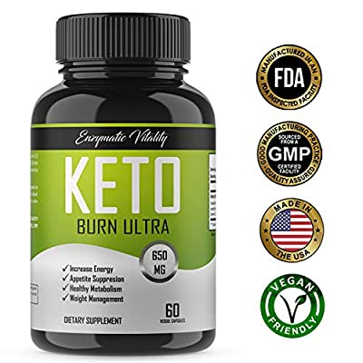 Keto Burn - All Natural Keto Diet Pills - Ketogenic Fat Burner, Vegan Friendly Weight Loss Pills with Antioxidants- Maintain Ketosis, Appetite Suppressant, Energy & Mental Clarity -Burn Fat Non GMO