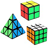 Speed Cube Set, Aitey Cube Bundle 2x2 3x3 Pyramid Magic Puzzle Cube Toy for Kids (3 Pack)