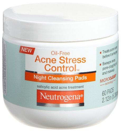 Neutrogena Acne Stress Control Night Cleansing Pads, 60 Coun