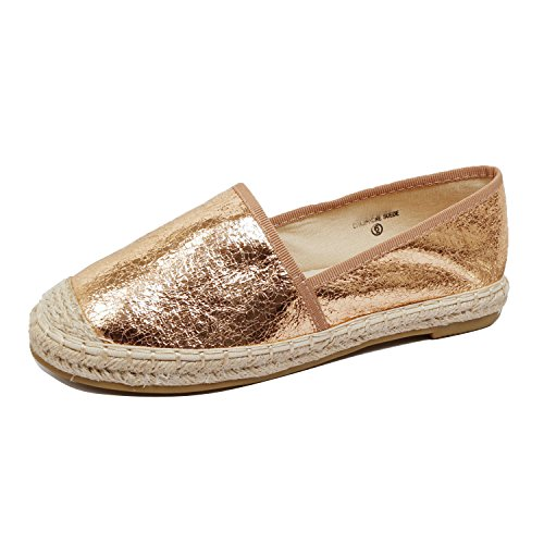 Braided Womens Gold 18 Suede Comfortable Espadrille On Summer Walking Flats Slip Platform Heart Bottom Guilty Loafer SgIqxROw
