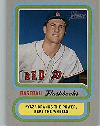 Amazon com: 2019 Topps Heritage Baseball Flashback #BF-CY