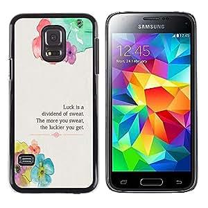Paccase / Dura PC Caso Funda Carcasa de Protección para - Floral Flower Spring Poem Message - Samsung Galaxy S5 Mini, SM-G800, NOT S5 REGULAR!