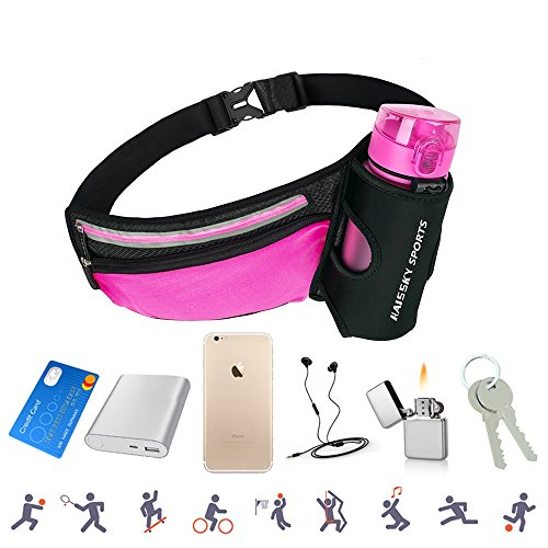 Best Waist Bag For Running Hiking - AFFLEXY Fanny Pack with Water Bottle
