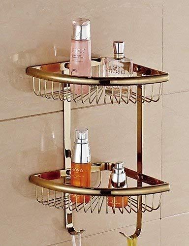AI LI WAI Bathroom 0.5 Bathroom Gold Finish Wall Double Layer Triangle Soap Basket, Gold (Color: Golden) Bathroom Accessories JYT (Color : Golden) by AI LI WAI (Image #4)