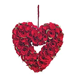 Fun Express Red Rose Heart Wreath for Va...