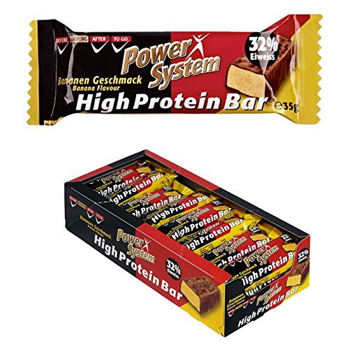 Power System High Protein Bar 35g - 24x35g Eiweiss Riegel (Banane)