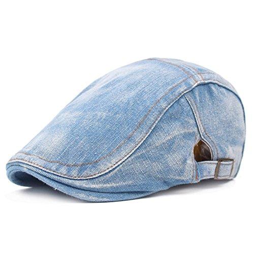(WETOO Men's Flat Cap Gatsby Newsboy Lvy Irish Hats Driving Cabbie Hunting Cap)