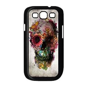 LZHCASE Diy Back Case Sugar Skull For Samsung Galaxy S3 i9300 [Pattern-1]