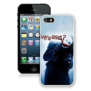 Beautiful And Durable Designed Case For iPhone 5S With Batman Joker Why So Serious White Phone Case
