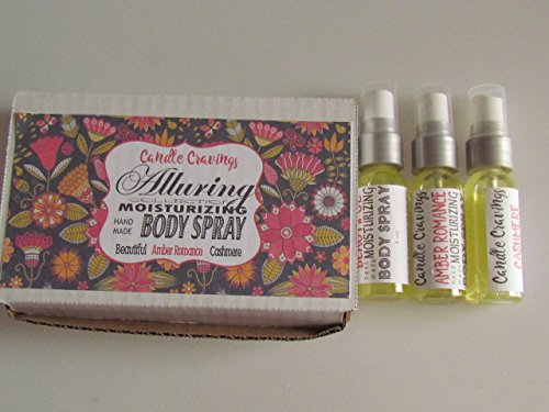 [Moisturizing Body Spray 3 Pack Beautiful, Amber Romance And Cashmere Liquid Lotion Alcohol Free] (Amber Moisturizer)