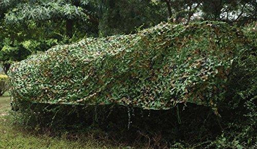 Yaheetech Outdoor Tarnnetz Waldlandschaft Waldtarnung Netz mit Tragtasche aus Polyester 7 x 1,5M