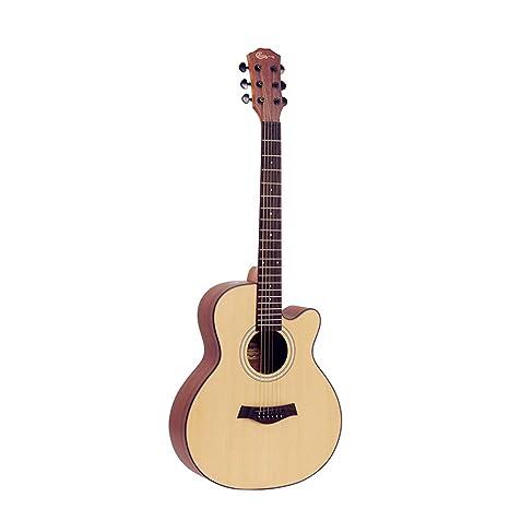 YUHUANG Guitarra acústica, 36 Pulgadas para Principiantes Olmo de ...